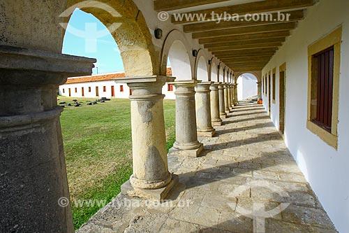 Interior do Forte de Santa Catarina do Cabedelo (1585) - também conhecida como Fortaleza de Santa Catarina  - Cabedelo - Paraíba (PB) - Brasil