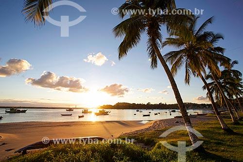 Amanhecer na orla da Praia da Coroinha  - Itacaré - Bahia (BA) - Brasil