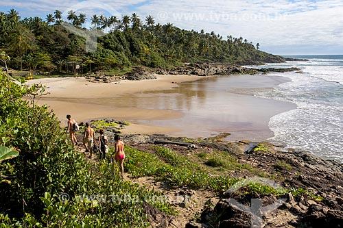 Trilha entre as praias da Tiririca e Resende  - Itacaré - Bahia (BA) - Brasil