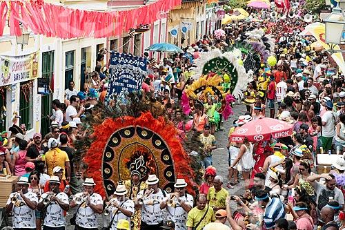 Desfile do Clube de frevo Pitombeira dos Quadro Cantos durante o carnaval  - Olinda - Pernambuco (PE) - Brasil