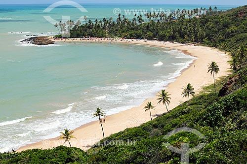 Vista geral da orla da Praia de Coqueirinhos  - Conde - Paraíba (PB) - Brasil