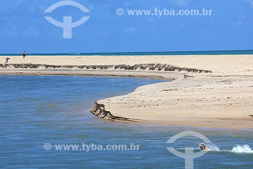 Vista da orla da Praia da Barra do Gramame  - Conde - Paraíba (PB) - Brasil