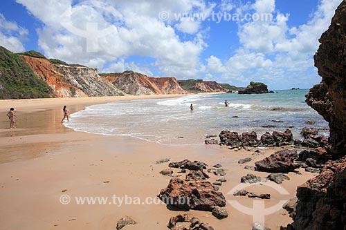 Banhistas na Praia de Jacumã  - Conde - Paraíba (PB) - Brasil
