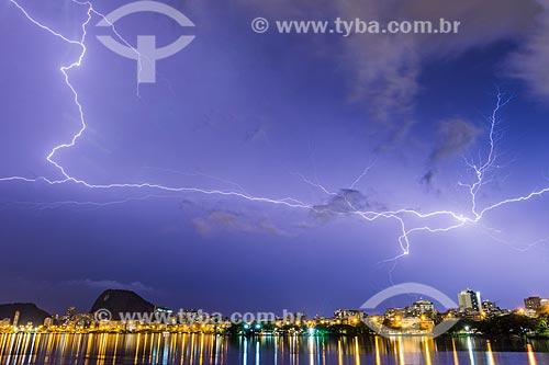 Raios na Lagoa Rodrigo de Freitas  - Rio de Janeiro - Rio de Janeiro (RJ) - Brasil