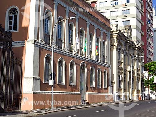 Fachada da Casa da Junta (1790) - também conhecida como a antiga Assembléia Legislativa - atual Memorial do Legislativo  - Porto Alegre - Rio Grande do Sul (RS) - Brasil