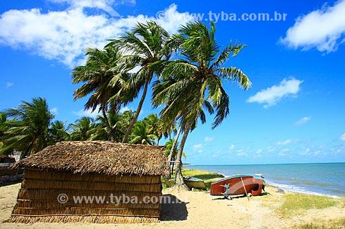 Cabana de palha na Praia de Lucena  - Lucena - Paraíba (PB) - Brasil