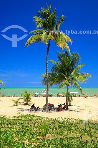 Banhistas na orla da Praia de Tambaú  - João Pessoa - Paraíba (PB) - Brasil