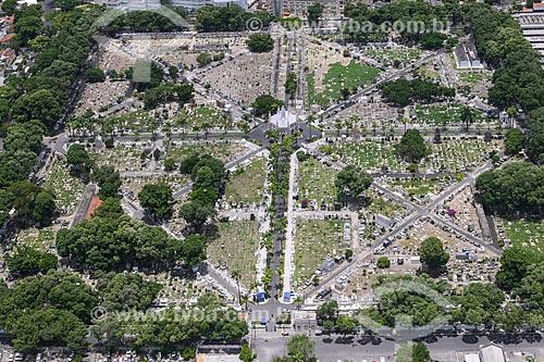 Foto aérea do Cemitério Senhor Bom Jesus da Redenção - mais conhecido como Cemitério de Santo Amaro  - Recife - Pernambuco (PE) - Brasil