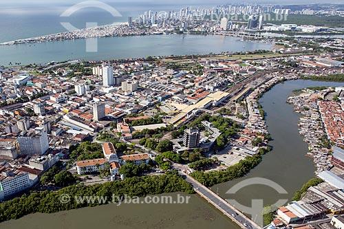 Foto aérea da Casa da Cultura de Pernambuco (1855) - antigo Casa de Detenção do Recife  - Recife - Pernambuco (PE) - Brasil