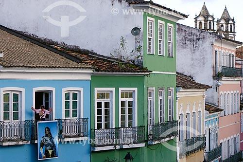 Casarios no Pelourinho - onde Michael Jackson gravou o clipe da música They Dont Care About Us  - Salvador - Bahia (BA) - Brasil