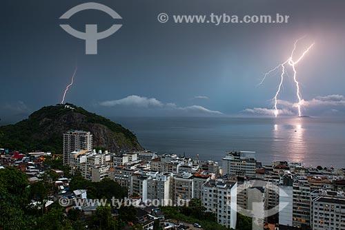 Tempestade de raios na zona sul do Rio de Janeiro  - Rio de Janeiro - Rio de Janeiro (RJ) - Brasil