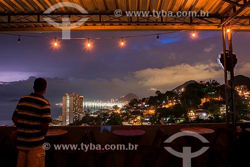 Anoitecer visto do Morro da Babilônia  - Rio de Janeiro - Rio de Janeiro (RJ) - Brasil