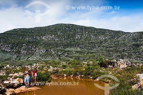 Montanhas na trilha para Cachoeira do Bicame  - Santana do Riacho - Minas Gerais (MG) - Brasil