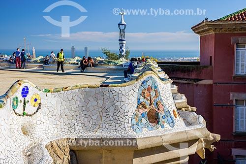 Vista do Parque Güell  - Barcelona - Província de Barcelona - Espanha