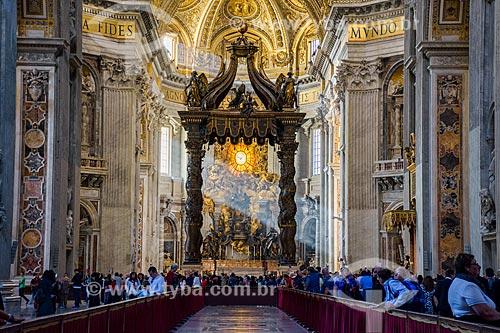 Interior da Basílica de São Pedro  - Cidade do Vaticano - Província de Roma - Itália
