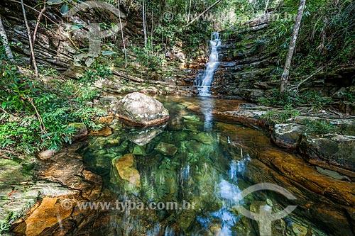 Poço da Siriema no Parque Nacional da Chapada dos Veadeiros  - Alto Paraíso de Goiás - Goiás (GO) - Brasil