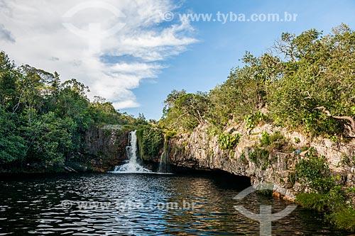 Cachoeira São Bento no Parque Nacional da Chapada dos Veadeiros  - Alto Paraíso de Goiás - Goiás (GO) - Brasil