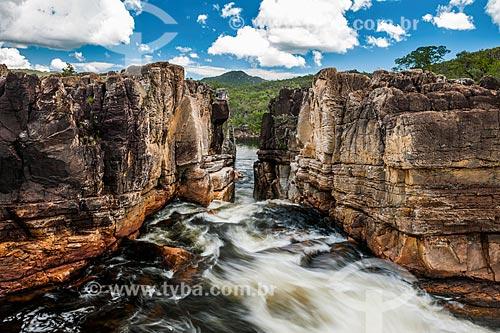 Vista geral do Cânion 2 no Parque Nacional da Chapada dos Veadeiros  - Alto Paraíso de Goiás - Goiás (GO) - Brasil
