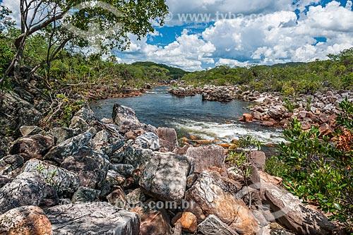 Vista do Rio Negro próximo ao Cânion 2 no Parque Nacional da Chapada dos Veadeiros  - Alto Paraíso de Goiás - Goiás (GO) - Brasil