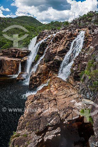 Cachoeira dos Carioquinhas no Parque Nacional da Chapada dos Veadeiros  - Alto Paraíso de Goiás - Goiás (GO) - Brasil