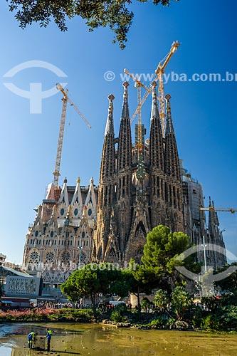 Fachada da Basílica i Temple Expiatori de la Sagrada Família (Templo Expiatório da Sagrada Família) - 1882  - Barcelona - Província de Barcelona - Espanha