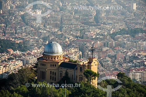 Vista do Observatori Fabra (Observatório de Fabra) com a cidade de Barcelona ao fundo  - Barcelona - Província de Barcelona - Espanha