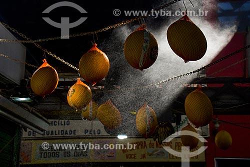 Melão (Cucumis melo) à venda no Cobal do Humaitá  - Rio de Janeiro - Rio de Janeiro (RJ) - Brasil