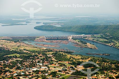 Foto aérea da Usina Hidrelétrica Luiz Eduardo Magalhães (2002) - também conhecida como Usina Hidrelétrica de Lajeado  - Lajeado - Tocantins (TO) - Brasil