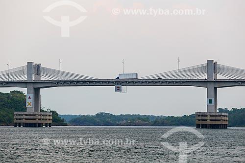 Ponte Imigrantes Nordestinos Padre Cícero José de Sousa (2011) sobre o Rio Tocantins  - Lajeado - Tocantins (TO) - Brasil