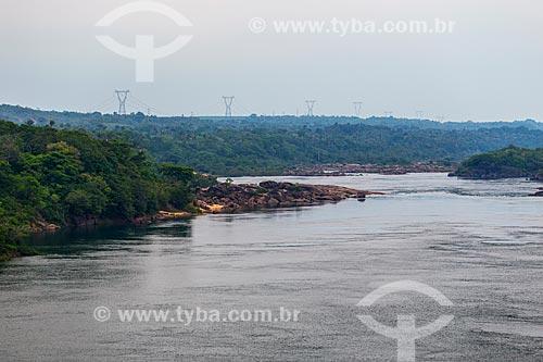 Leito do Rio Tocantins próximo à Usina Hidrelétrica Luiz Eduardo Magalhães (2002) - também conhecida como Usina Hidrelétrica de Lajeado  - Miracema do Tocantins - Tocantins (TO) - Brasil