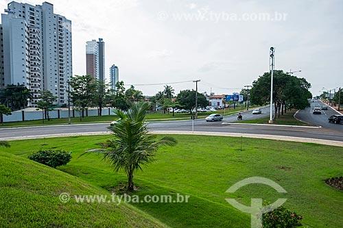 Vista da Avenida NS 2 a partir do Relógio de flores  - Palmas - Tocantins (TO) - Brasil