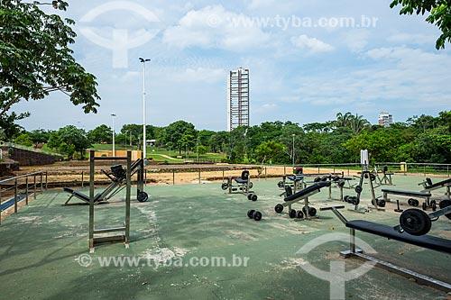 Academia ao ar livre no Parque Cesamar (1988)  - Palmas - Tocantins (TO) - Brasil