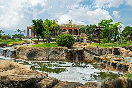 Cascata em frente ao Palácio Araguaia (1991) - sede do Governo do Estado  - Palmas - Tocantins (TO) - Brasil