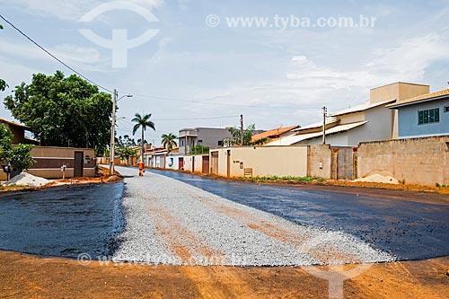 Pavimentação de rua na quadra 307 Sul  - Palmas - Tocantins (TO) - Brasil