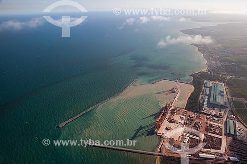 Foto aérea do Estaleiro Jurong Aracruz  - Aracruz - Espírito Santo (ES) - Brasil