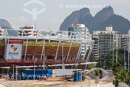 Vista geral do canteiro de obras do Centro Olímpico de Tênis - parte do Parque Olímpico Rio 2016  - Rio de Janeiro - Rio de Janeiro (RJ) - Brasil