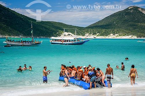 Passeio de Banana Boat na Prainha do Pontal do Atalaia  - Arraial do Cabo - Rio de Janeiro (RJ) - Brasil