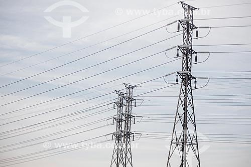 Torres de transmissão de energia elétrica  - Rio de Janeiro - Rio de Janeiro (RJ) - Brasil