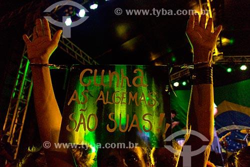 Ato a favor da Democracia na Praça XV de Novembro - ato contra o impeachment da Presidente Dilma Rousseff em 18 de março   - Rio de Janeiro - Rio de Janeiro (RJ) - Brasil