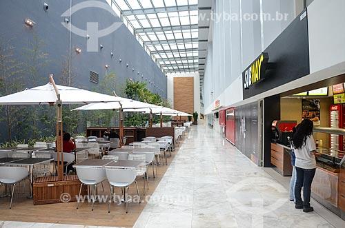 Praça de alimentação no Bossa Nova Mall  - Rio de Janeiro - Rio de Janeiro (RJ) - Brasil