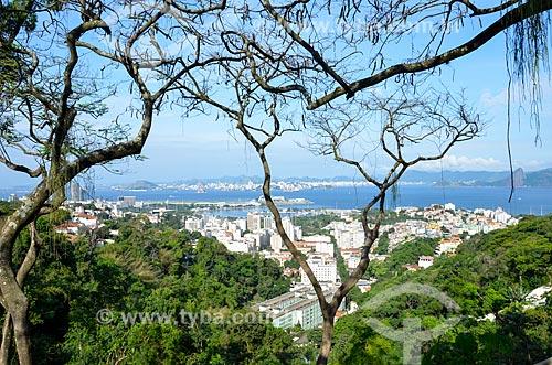 Vista do bairro da Glória e Centro - à esqueda - a partir do Mirante do Rato Molhado  - Rio de Janeiro - Rio de Janeiro (RJ) - Brasil