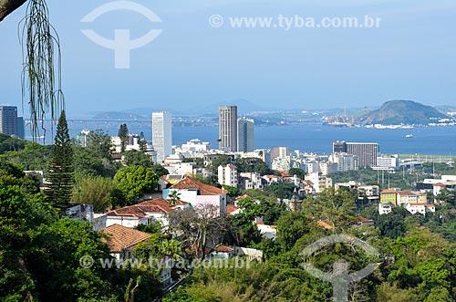 Vista do bairro do Centro a partir do Mirante do Rato Molhado  - Rio de Janeiro - Rio de Janeiro (RJ) - Brasil