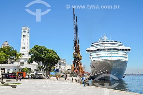 Navio de Cruzeiro atracado no Píer Mauá  - Rio de Janeiro - Rio de Janeiro (RJ) - Brasil