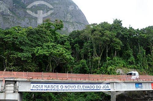 Canteiro de obras da duplicação Elevado do Joá (1972) - também conhecido como Elevado das Bandeiras  - Rio de Janeiro - Rio de Janeiro (RJ) - Brasil