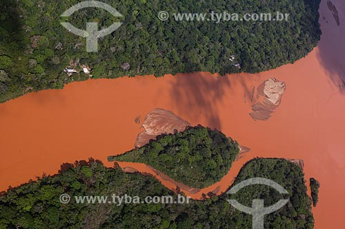 Rio Doce após o rompimento de barragem de rejeitos de mineração da empresa Samarco em Mariana (MG)  - Linhares - Espírito Santo (ES) - Brasil