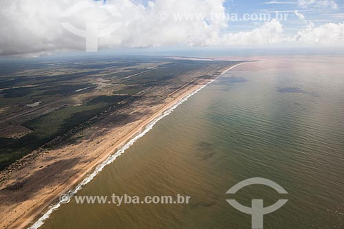 Orla do distrito de Regência após o rompimento de barragem de rejeitos de mineração da empresa Samarco em Mariana (MG)  - Linhares - Espírito Santo (ES) - Brasil
