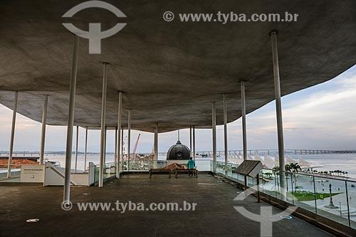 Vista a partir do terraço do Museu de Arte do Rio (MAR)  - Rio de Janeiro - Rio de Janeiro (RJ) - Brasil