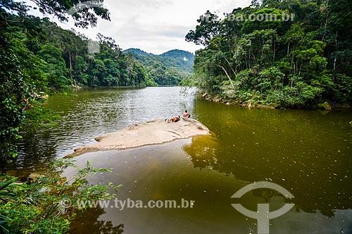 Vista do Açude do Camorim no Núcleo Camorim - Sub-sede do Parque Estadual da Pedra Branca  - Rio de Janeiro - Rio de Janeiro (RJ) - Brasil