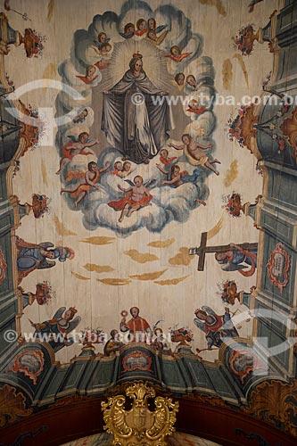 Detalhe do teto da Igreja de Nossa Senhora das Mercês (século XVIII)  - Tiradentes - Minas Gerais (MG) - Brasil