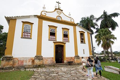 Fachada da Igreja de Nossa Senhora das Mercês (século XVIII)  - Tiradentes - Minas Gerais (MG) - Brasil